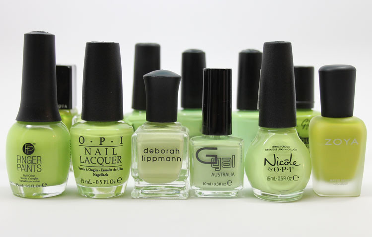 Lime Green Nail Polish Smackdown-2