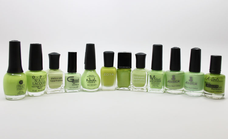 Lime Green Nail Polish Smackdown