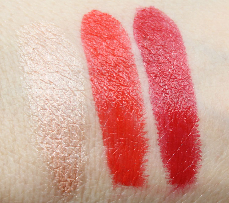 MAC Pedro Lourenco Hush, True Red, Ruby Swatches