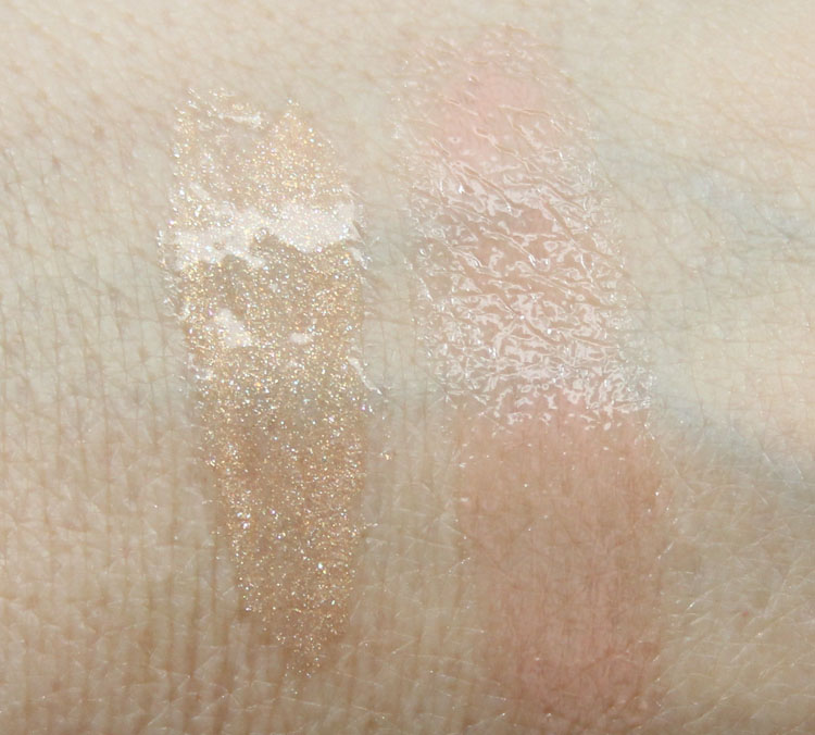 MAC Sharon Osbourne Pussywillow, Innocent Swatches