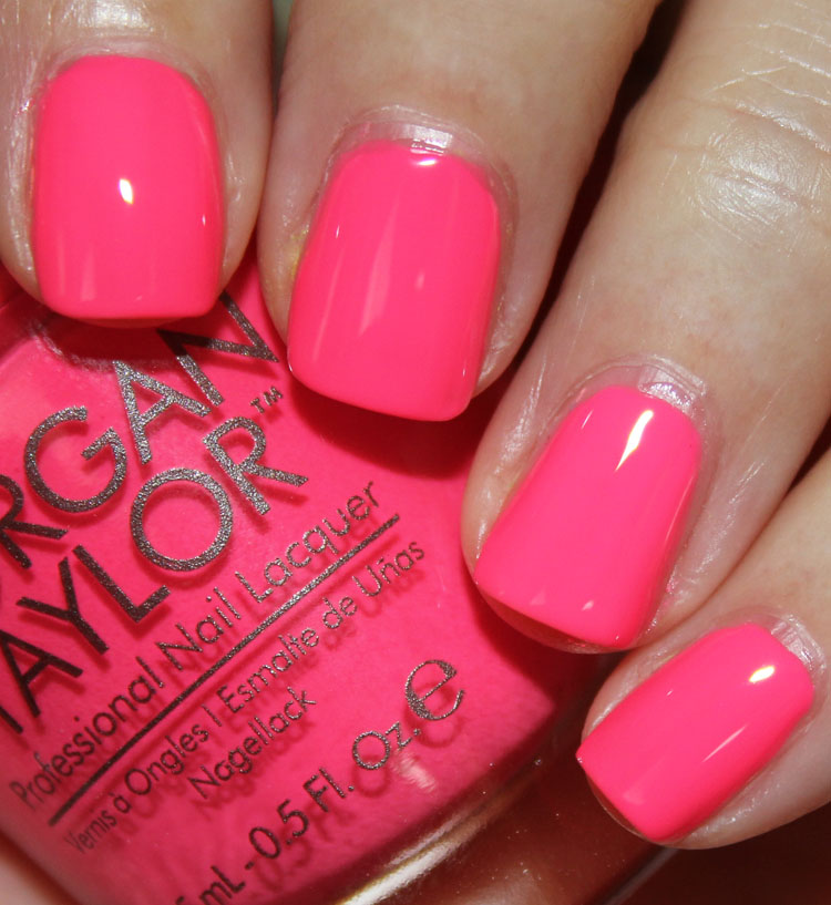 Morgan Taylor Neon Color Collection Swatches and Review | Vampy Varnish