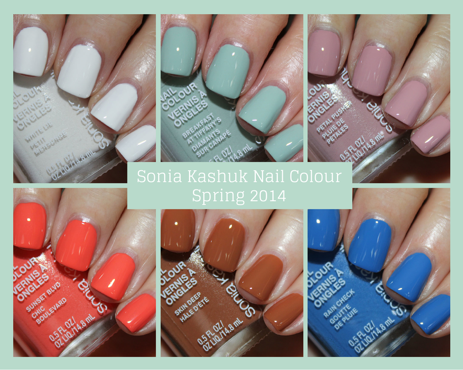 sonia kashuk nail colours for spring 2014 vampy varnish