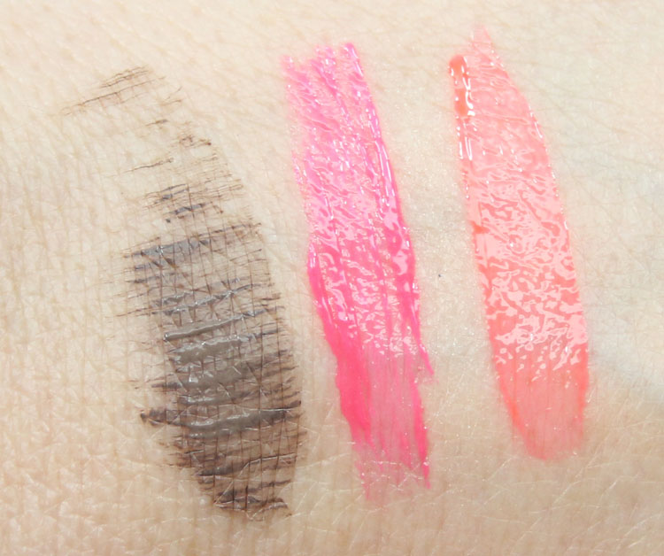 Sonia Kashuk Tinted Brow Gel, Dewy Luxe Lip & Cheek Balm Swatches
