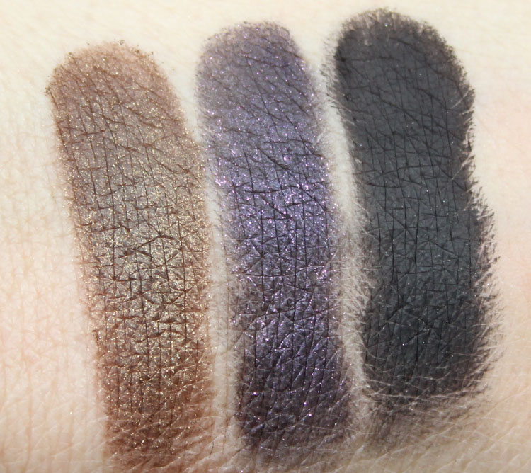 Too Faced Cat Eyes Ferociously Feminine Eye Shadow and Liner Collection Swatches-3