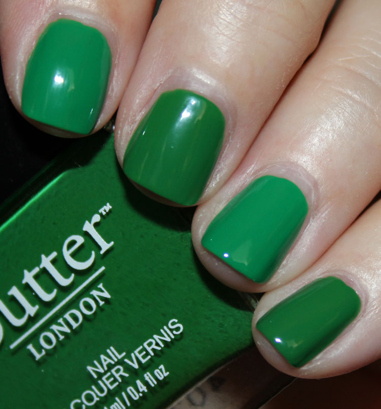 butter LONDON Sozzled and OPI Sandy Hook Green