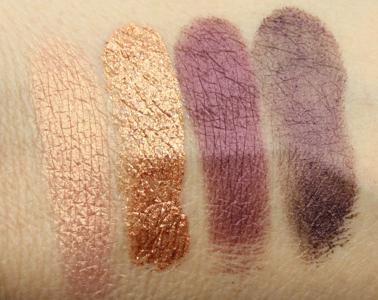 MAC Moody Blooms Artistic License, Copperthorn, Hideen Motive, Nightshade
