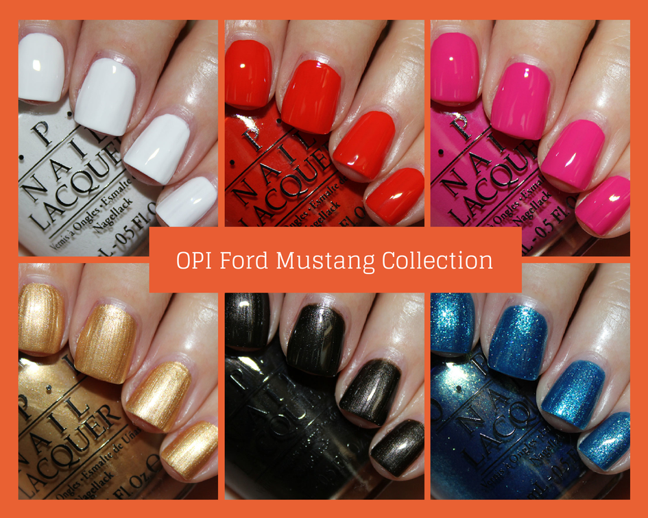 opi ford mustang collection swatches and review vampy varnish. Black Bedroom Furniture Sets. Home Design Ideas