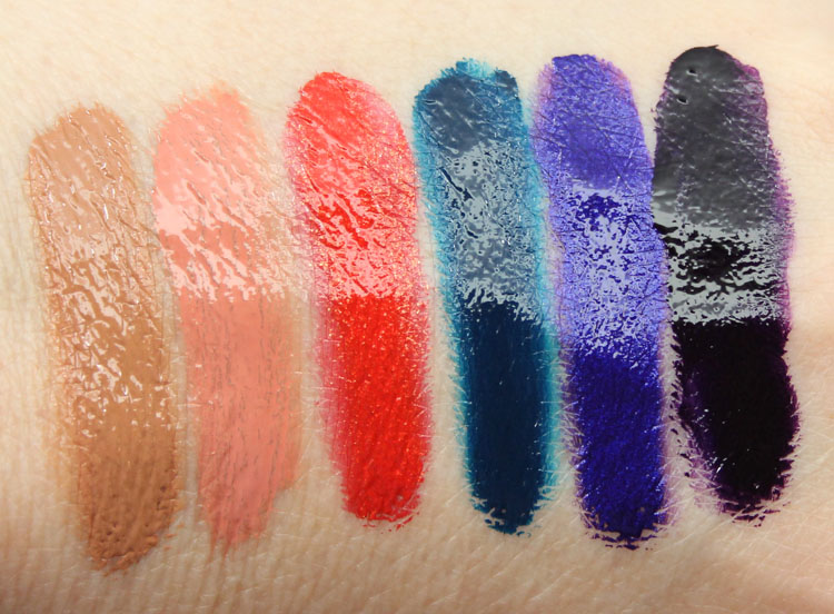 Obsessive Compulsive Cosmetics Unknown Pleasures Lip Tar Swatches