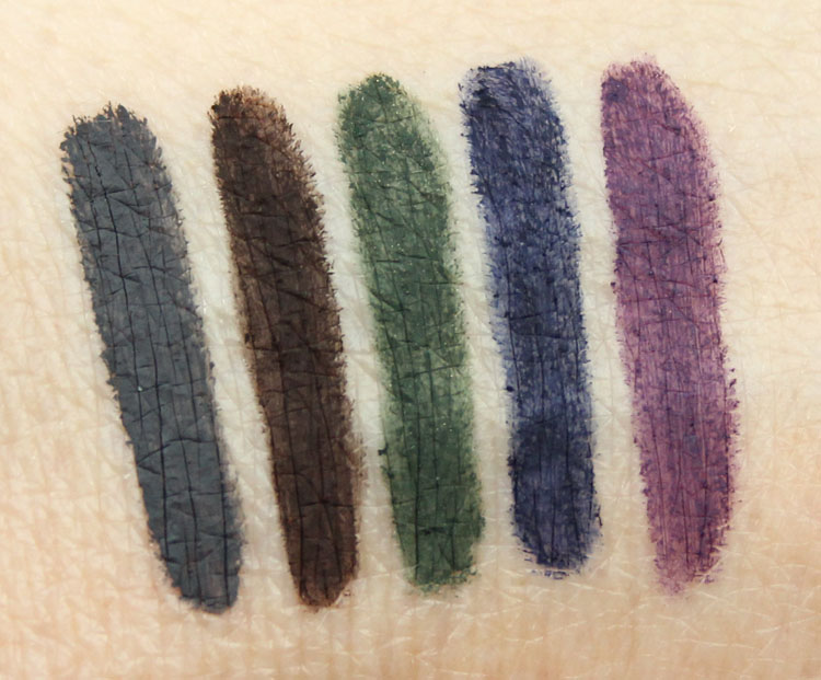 Urban Decay 24-7 Velvet Glide-On Eye Pencil Swatches