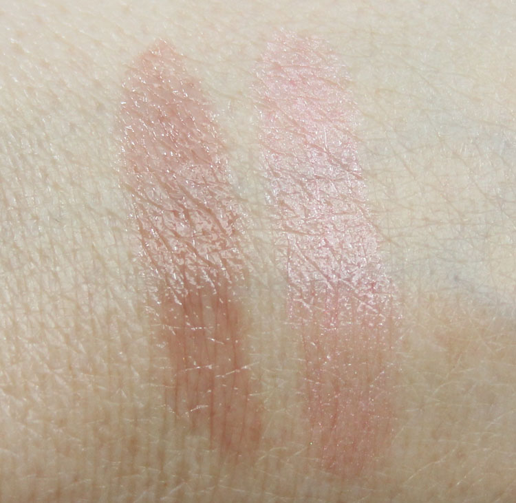 Hard Candy All Glossed Up Sand Castle, Fair Lady Swatches