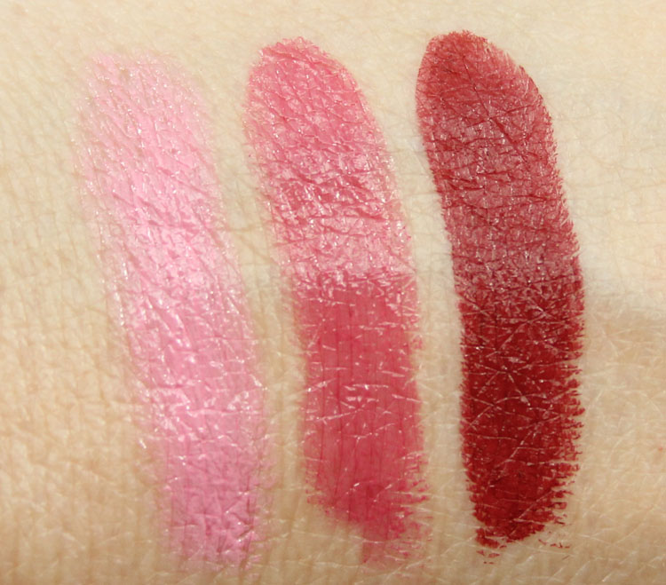 MAC A Novel Romance, Yield To Love, Hearts Aflame Swatches