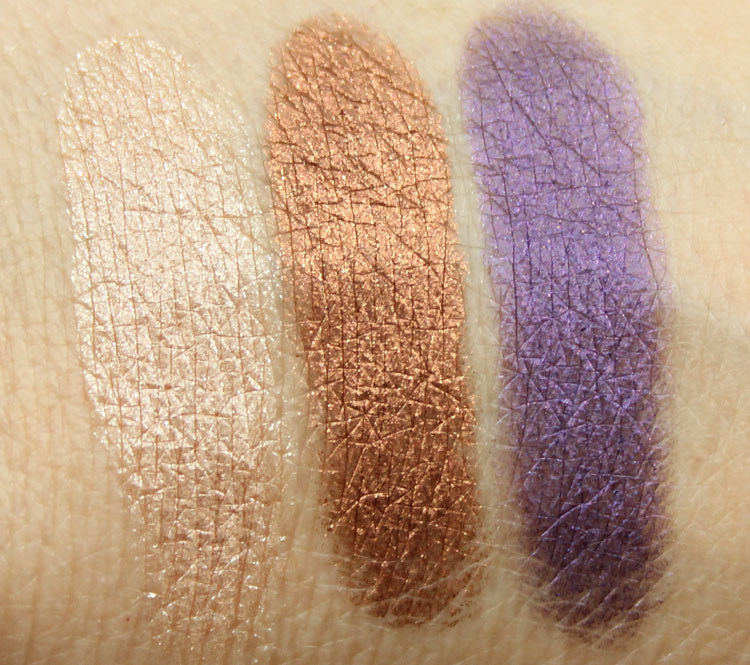 MAC Pure Flash!, Coil, Highly Charged Swatches