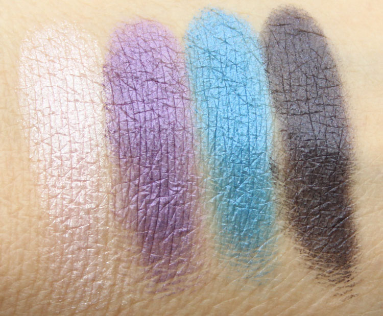 MAC x The Simpsons Collection Marges Extra Ingredients Quad Swatches