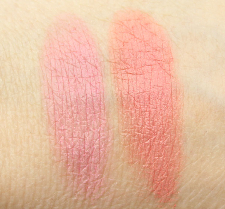 MAC x The Simpsons Collection Powder Blush Pink Sprinkles, Sideshow You Swatches
