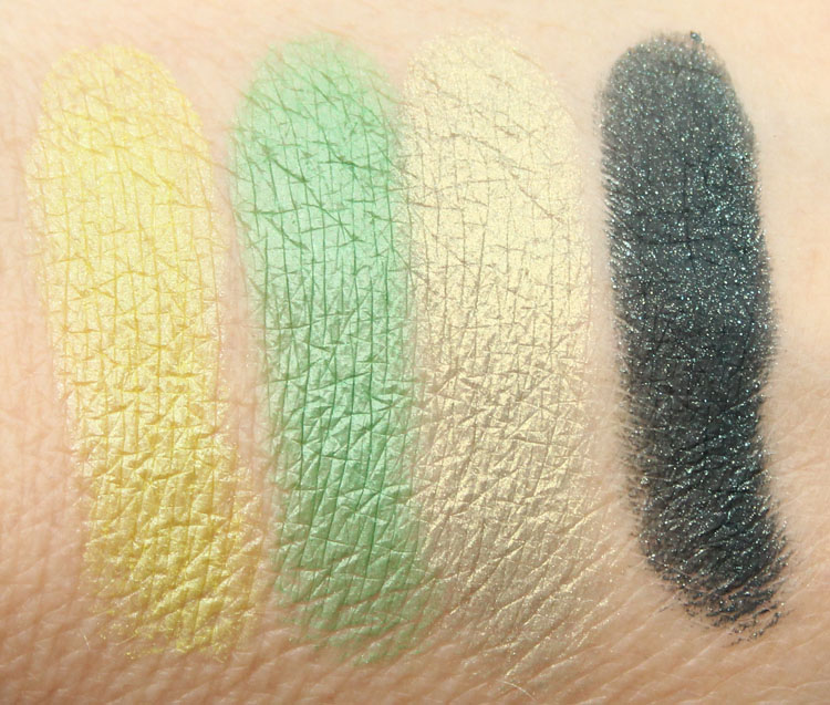 MAC x The Simpsons Collection That Trillion Dollar Look Quad Swatches
