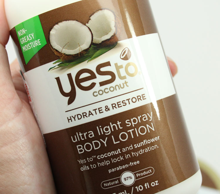 Yes to Carrots Coconut Hydrate & Restore Ultra Light Spray Body Lotion
