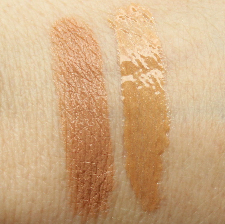 MAC Siss, De-Nude Swatches