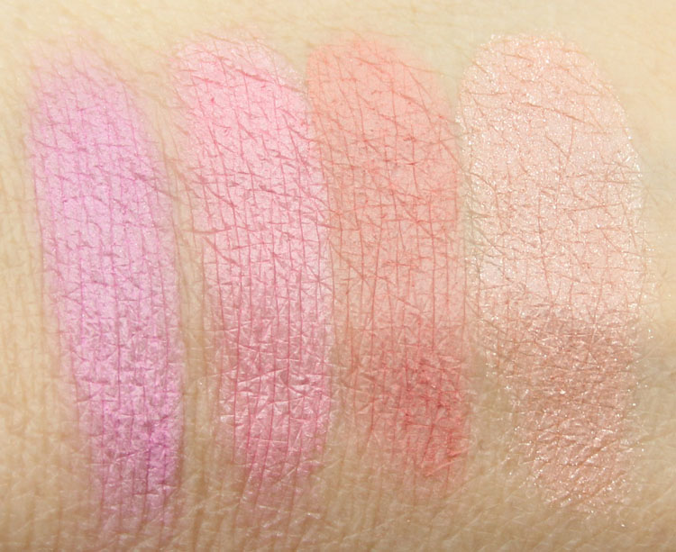 Makeup Geek Blush Secret Admirer, Head Over Heels, Spell Bound, Honeymoon