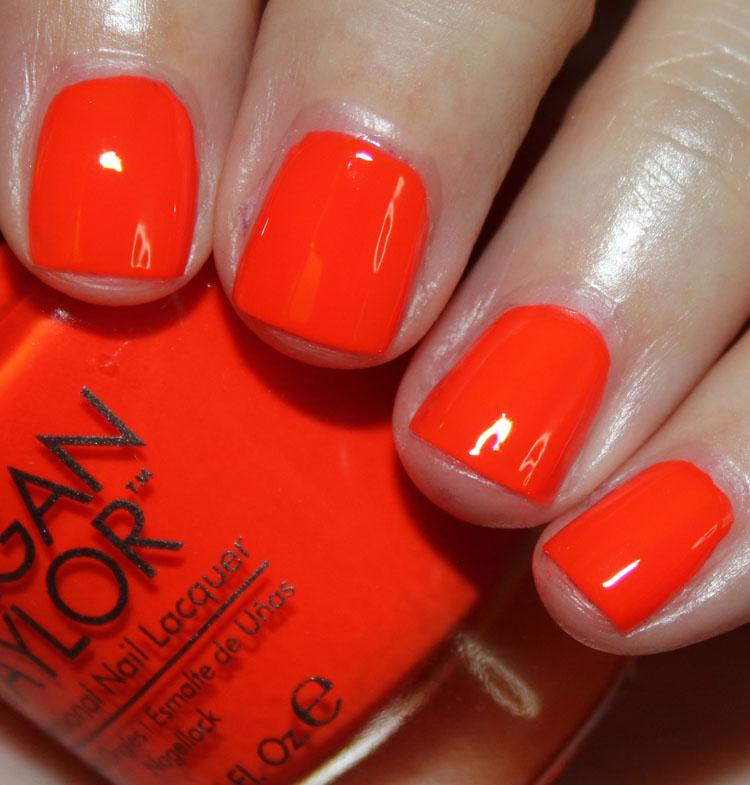 Morgan Taylor Orange Crush with Make It Last