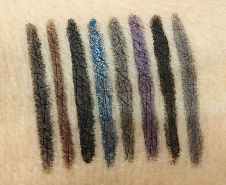 Urban Decay Black Magic 24-7 Glide-On Double-Ended Eye Pencil Set Swatches