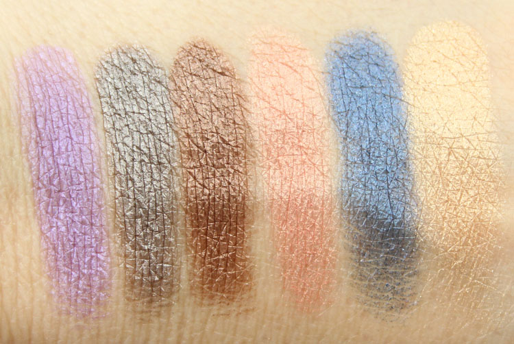 Urban Decay Shadow Box Swatches-2