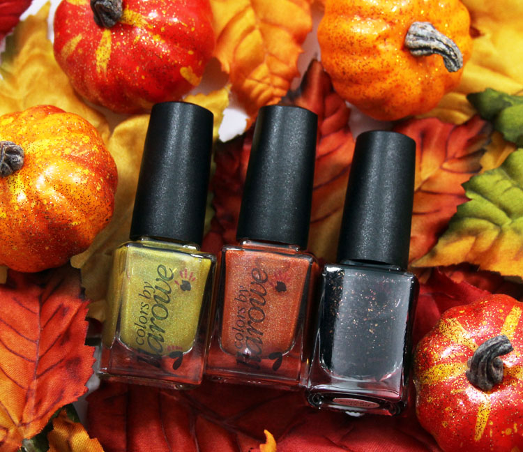 Colors by Llarowe I Love Candy Corn Trio for Halloween 2014