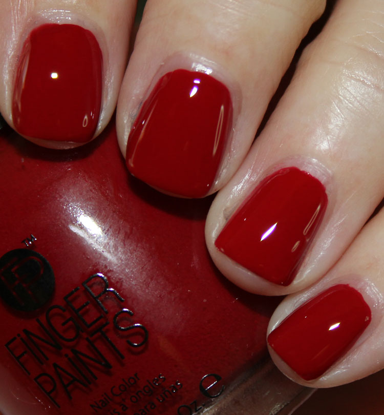 FingerPaints Patent Red with Top Coat