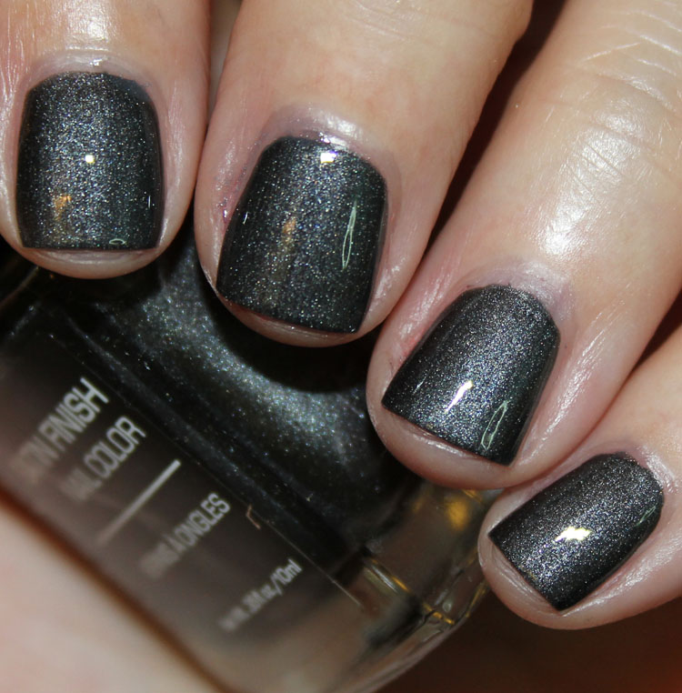 Jesse's Girl Black Satin with Top Coat
