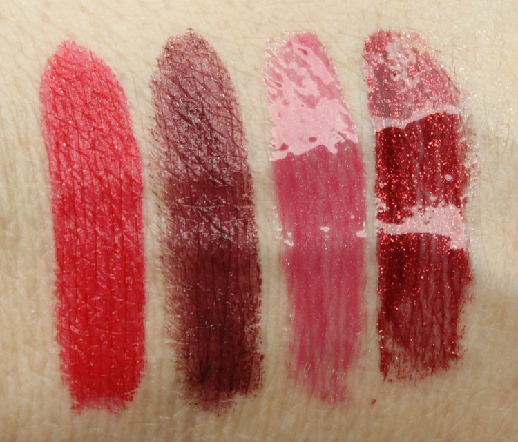 MAC Heirloom Mix Lip Swatches for Holiday 2014