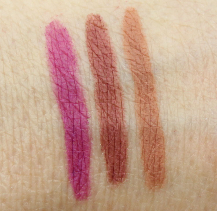 MAC The Matte Lip Prolongwear Lip Pencil Swatches