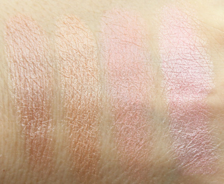 Pixi Ultimate Beauty Kit 2nd Edition Highlighters and Cheek Powder Swatches-2