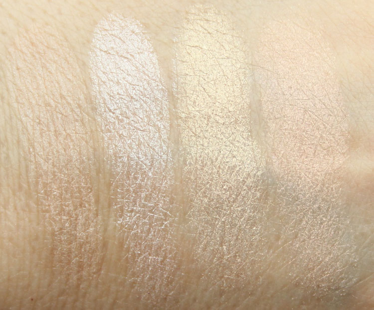 Pixi Ultimate Beauty Kit 2nd Edition Highlighters and Cheek Powder Swatches