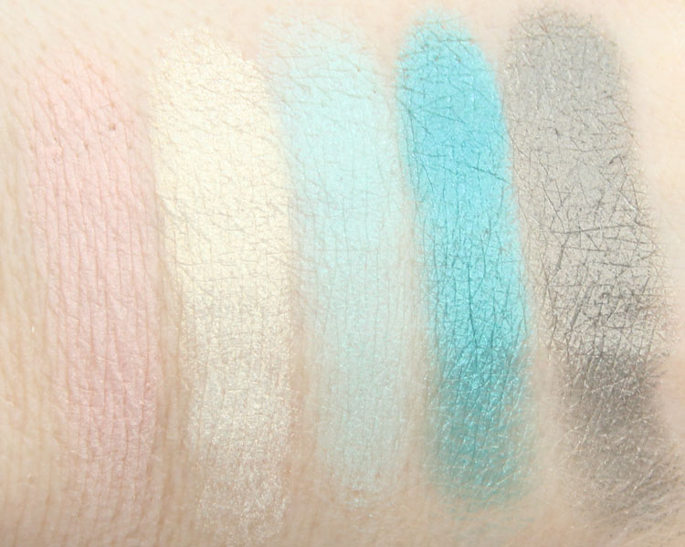 Lise Watier Palette Expression Eyeshadows Swatches