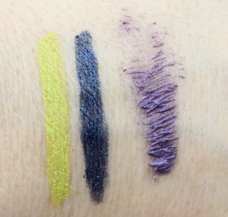MAC Chlorafill, Petrol Blue, Tarot Swatches