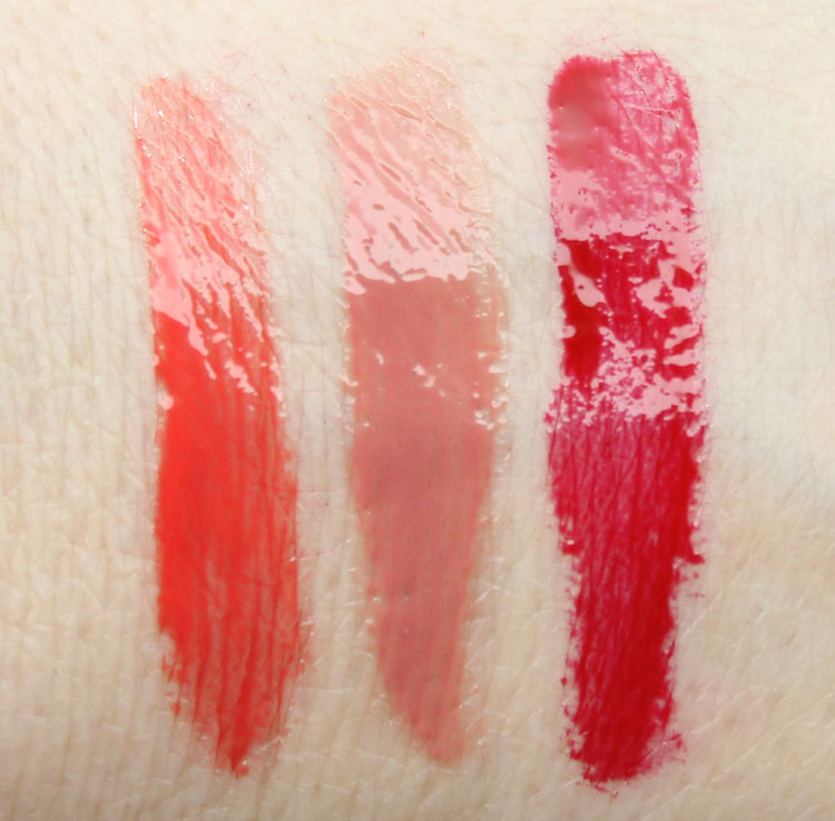 MAC Oblood, Barbeque, Opera Lipglass Swatches