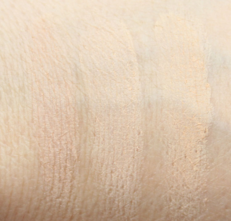 Urban Decay Naked Skin Ultra Definition Powder Foundation Swatches