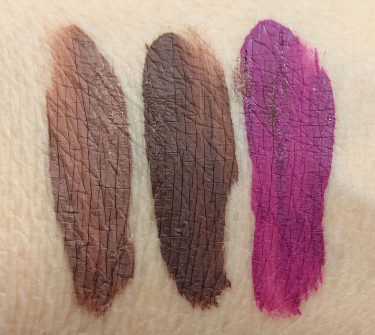 Coloured Raine Matte Lip Paint Swatches