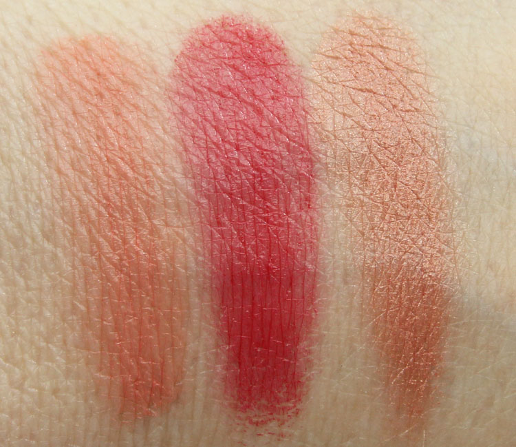 Jordana Color Tint Blush Stick Sunkissed, Rouge Romance, Golden Sheen