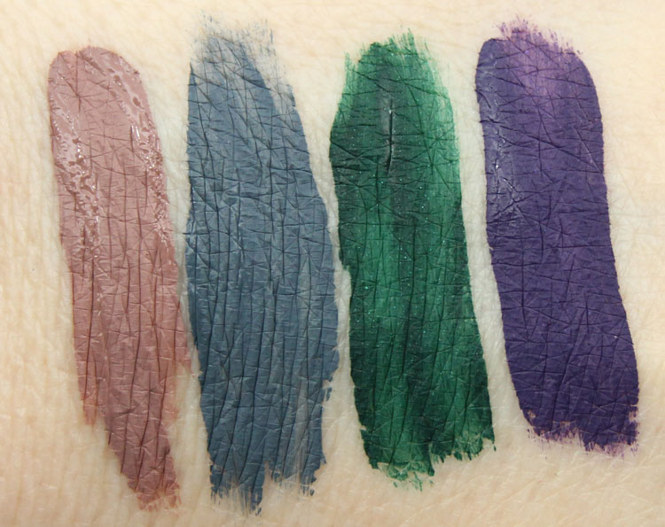 LA Splash Ghoulish, Vindictive, Nagini, Bellatrix Swatches