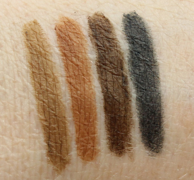 Wet n Wild Color Icon Brow Pencil Swatches