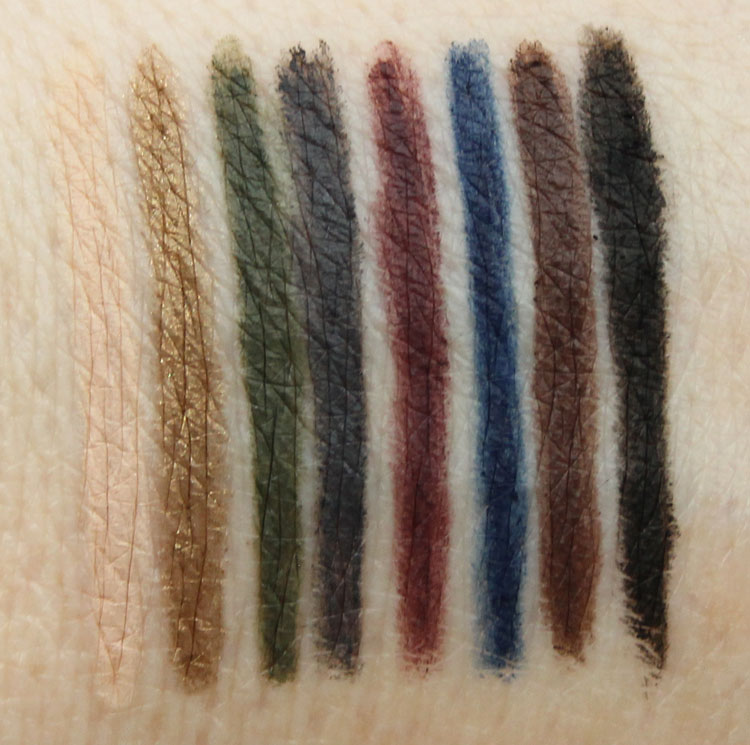 thebalm Mr. Write (Now) Eyeliner Pencil Swatches