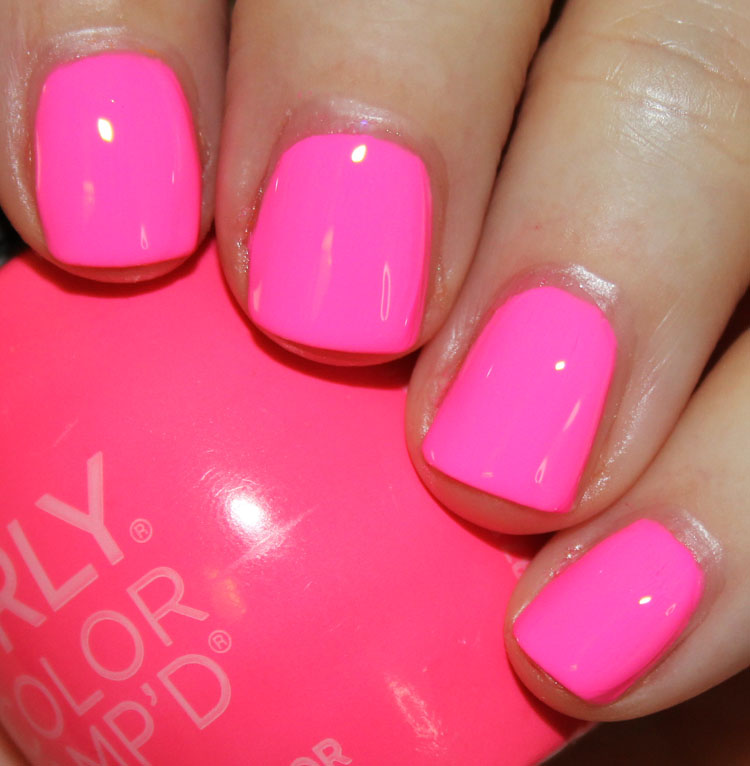 Bright Pink Nail Polish Colors: Orly Color AMP'D Nail Lacquer