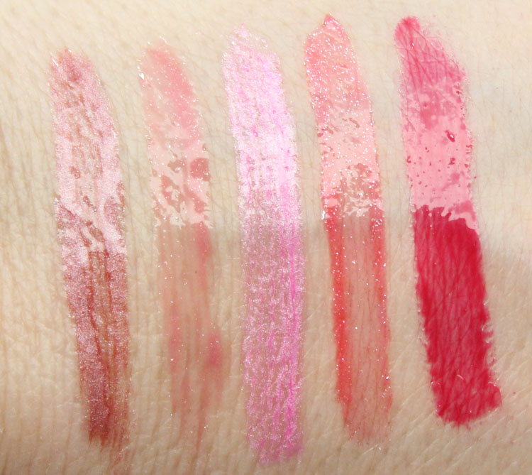 essence cosmetics XXXL Shine Lipgloss Swatches