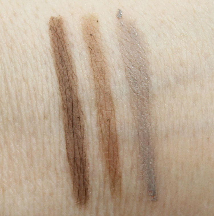 Favorite Eyebrow Products Swatches-3