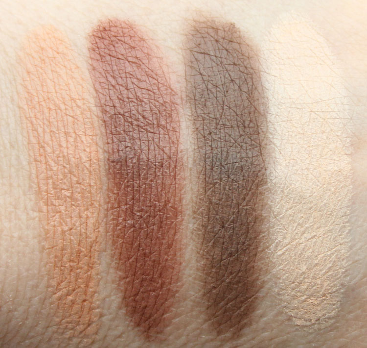 Kat Von D Shade + Light Eye Contour Palette Warm Quad Swatches