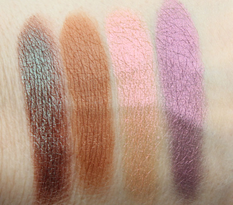 Urban Decay Eyeshadow Lounge, Riff, Fireball, Backfire