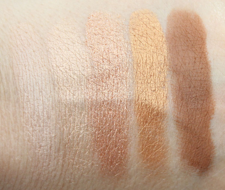 MAC Eyeshadow x 15 Warm Neutral Swatches-2