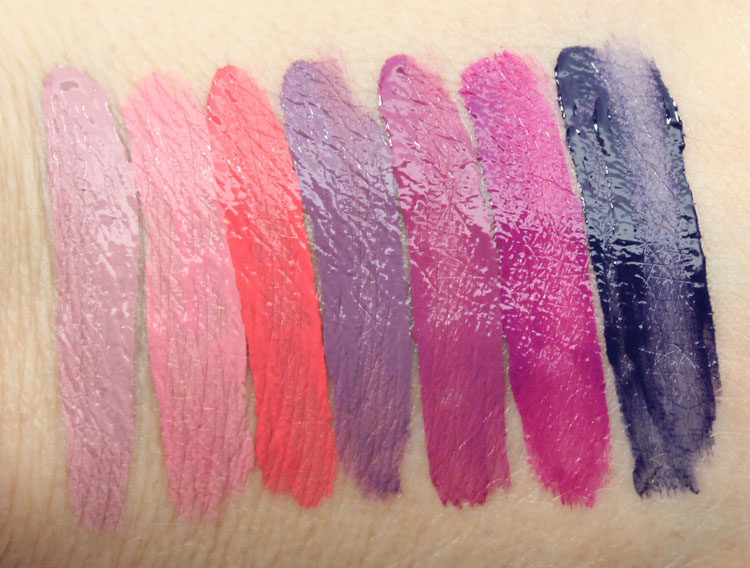 Kat Von D Everlasting Liquid Lipstick Swatches Wet