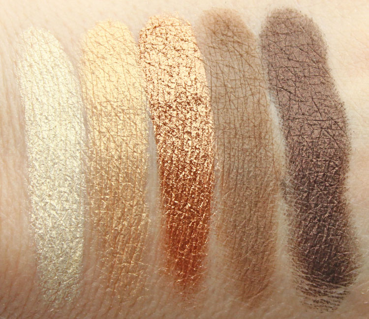 LORAC Unzipped Gold Eye Shadow Palette Swatches-2