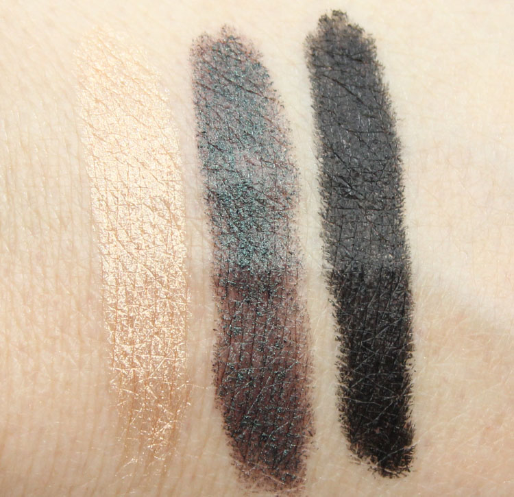 NARS Velvet Shadow Stick Swatches Hollywoodland, Sukhothai, Flibuste